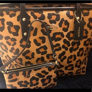 Coach Leopard Print Purse